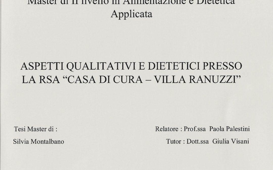 """Amedea Servizi supporta la redazione di una tesi sugli """"Aspetti Qualitativi e Dietetici"""""""
